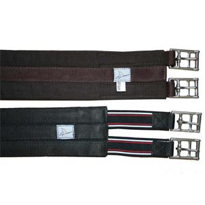 Sattelgurt BW, rostfreie Schnalle, elastische Enden - 110cm