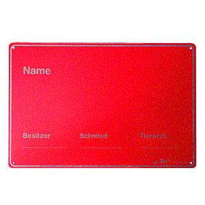 Stalltafel ohne Abstammung Aluminium, rot