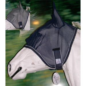 Fliegenmaske EQUIDREAM, COB - Stahlgrau
