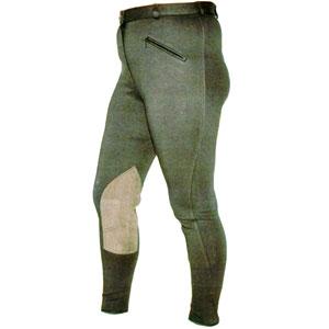 Reithose elastisch BW mit Knielederbesatz - Damen