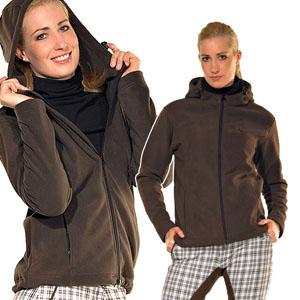 Ladies Fleece Jacket With Hood - XL