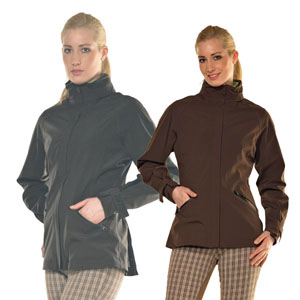 Mid-Season Softshell Jacket With Fleece Lining - Brown