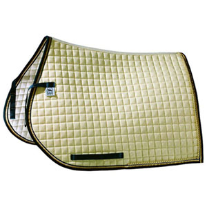 Saddle pad Luxus, all purpose with gold- or silver cord