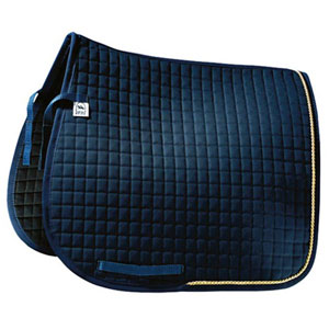 Saddle pad Luxus, dressage with gold- or silver cord