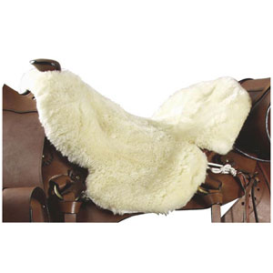 Western saddle seat cover, real lambskin