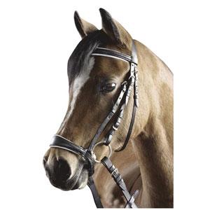 Snaffle bridle pony, dropped noseband