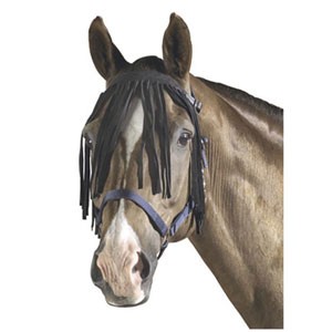 Browband fly screen, leather
