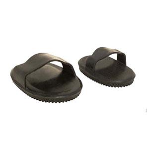 Rubber massage comb, small - black