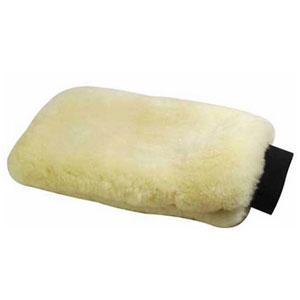 Lambskin grooming glove