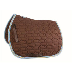 Saddle pad with two cords