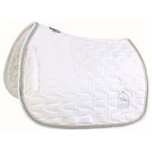 Saddle pad with PFIFF embroidery