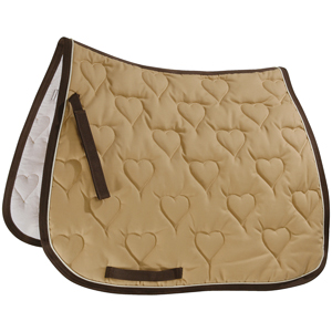 Saddle cloth - heart - Dressur